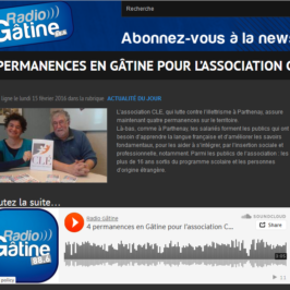 4 permanences en Gâtine pour l'association CLE