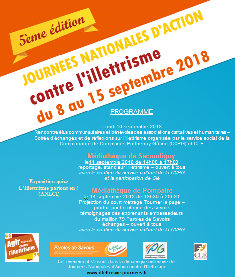 Journee nationales 2018 Association CLE Programme