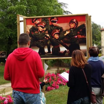 Les apprenants au festival photo de Moncoutant