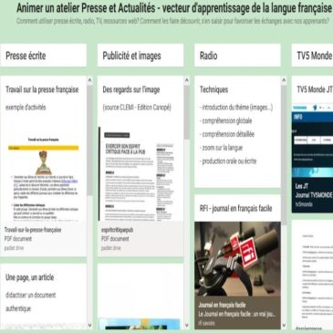 Ateliers de formation: presse / orthographe